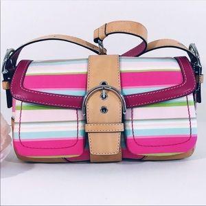 COACH Soho Hampton Stripe Handbag
